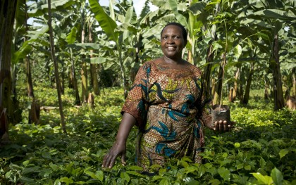 Entrepreneur, farmer, and leader Emiliana Aligaesha of Kagera, Tanzania, was one of the women honored by Oxfam at an International Women's Day event in Washington, DC. Photo: Brett Eloff/Oxfam America