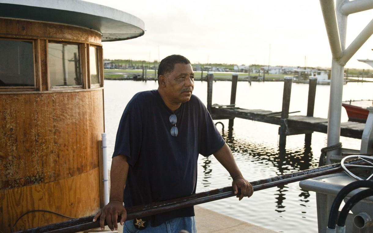 Byron Encalade of the Louisiana Oysterman Association. Photo: Audra Melton/Oxfam America