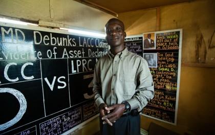 Daily Talk founder Alfred Sirleaf. Photo: Morgana Wingard / Accountability Lab