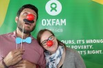 Oxfam staffers in Boston celebrate in Red Nose Day. Photo: Sarah Livingston/Oxfam America
