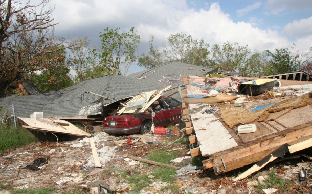 Many of the homes and cars in East Biloxi were destroyed by Katrina, and most residents could not drive the seven miles to the FEMA Disaster Recovery Center to seek help. Photo by Kenny Rae/Oxfam America