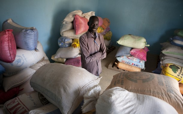 Bady Ndao manages the grain bank in his village, Kouthiacoto, in eastern Senegal. Photo: Jane Hahn/Oxfam America