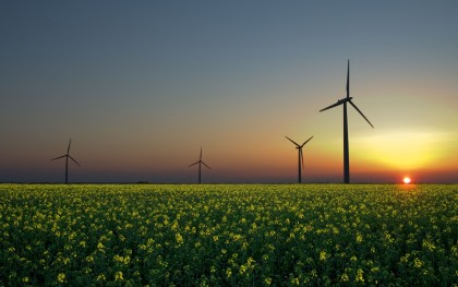 Wind, sun, and biomass are three renewable energy sources. Photo: Wikipedia http://bit.ly/R1iVtp