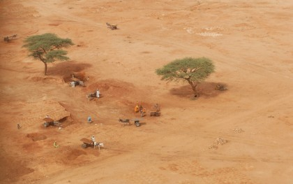 Aerial view of the outskirts of Kebkabiye, North Darfur. Photo: Eva-Lotta Jansson/Oxfam