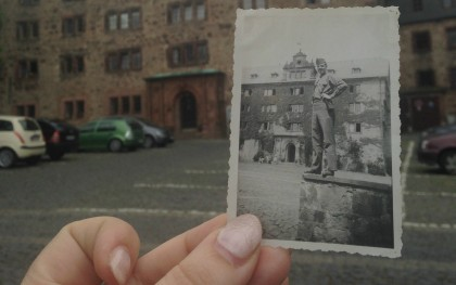 A photo of the author's grandfather, who was stationed in Marburg, Germany following WWII. Photo by author.