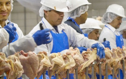 77 percent of poultry workers in line jobs reported cumulative trauma disorders in their hands and wrists, according to a 2013 survey by Southern Poverty Law Center and Alabama Appleseed. Photo: NAACP http://bit.ly/1BzHHnW