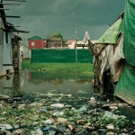Polluted water in the Andong slum outside of Phnom Phen, Cambodia. Photograph: Emma Hardy / Oxfam.