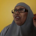 Katra Arale is among those in the Somali Diaspora who send money to family members in Somalia who are struggling to survive there. For 15 years, since arriving in the US at age 22, Arale has worked in janitorial services, cleaning a government building in Minneapolis. A mother of three children all born in the US, Arale says she's glad to share her salary with her extended family in Somalia. Katra Arale sends at least $300 home every month. Sometimes, it's as much as $400 or $500. The money helps her father, who is disabled, his wife, and their children. Photo: Coco McCabe / Oxfam