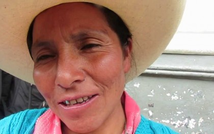 Although Máxima Acuña de Chaupe won a court case against the Yanacocha mine in Peru in defense of her land last year, her family's home was destroyed by the mining company last week. Photo: http://bit.ly/17ZfCw2