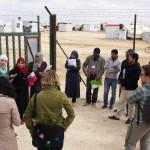 People working with Oxfam at the Za'atari refugee camp in Jordan. Photo: Gawain Kripke/Oxfam America.