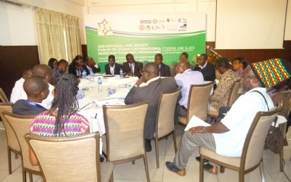 """Break out group discussion at the """"2nd National Civil Society Forum on Ghana's International Monetary Fund (IMF) Programme"""", Organized by the CS Platform in Accra on June 16, 2015. Picture: Godson Aloryito."""