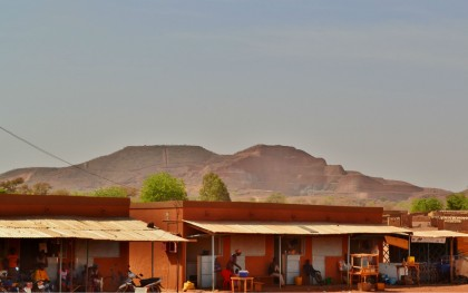 The Amara Mining gold mine as seen from the village of Tapre in northern Burkina Faso.  Photo: Keith Slack/Oxfam America