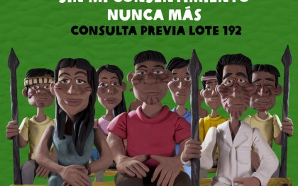 """""""Never again without our consent."""" Source: Oxfam in Peru"""