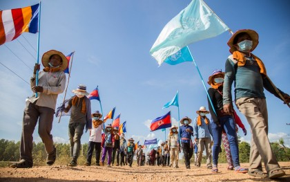 Indigenous peoples march on Human Rights Day in Cambodia. Photo: Savann Oeurm/Oxfam America