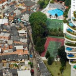 A shantytown in São Paulo, Brazil, borders the much more affluent Morumbi district. Tuca Vieira / Oxfam