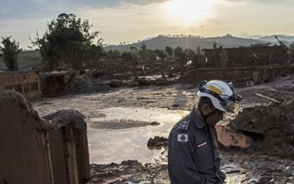 The devastation wrought by the recent dam collapse in Brazil. Photo: Agence France-Presse (AFP)